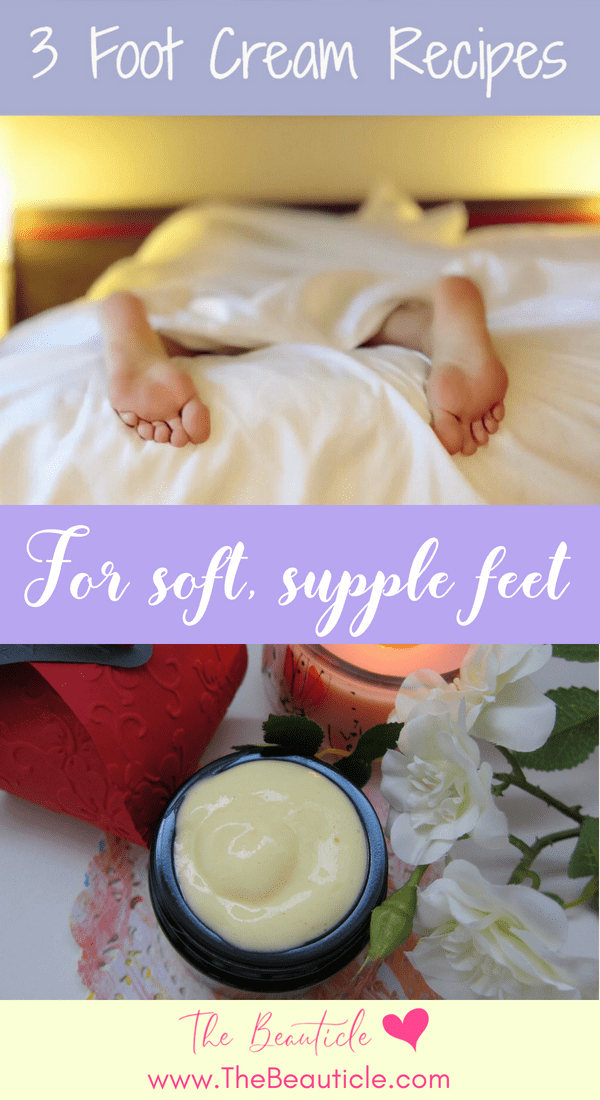 DIY Foot cream recipes for tired feet - coconut peppermint foot cream - lavendar foot cream diy, foot cream for cracked heels