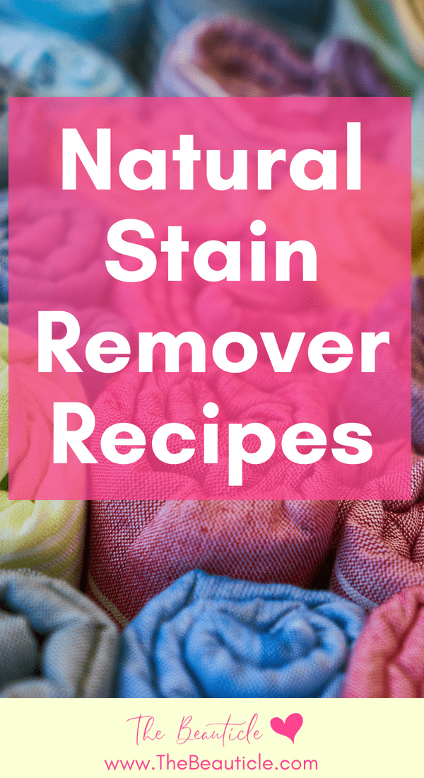 Natural stain remover recipes for green living, frugal living and natural homes. These homemade stain removers will lift stins from fabrics like clothes and carpets.