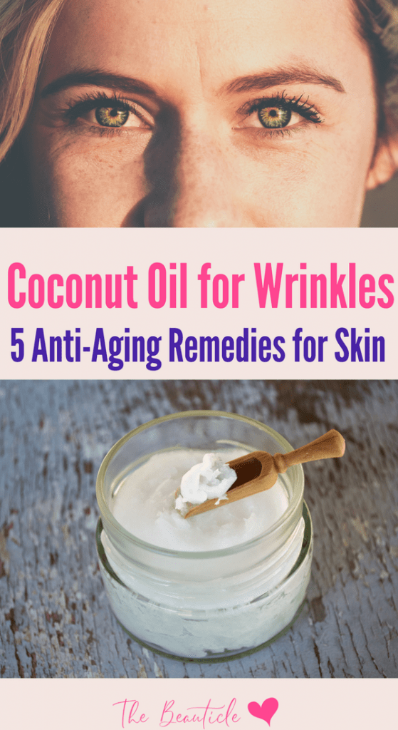 Coconut oil for wrinkles - anti-aging remedies for face. Learn how to use coconut oil for skin with these masks and mixes