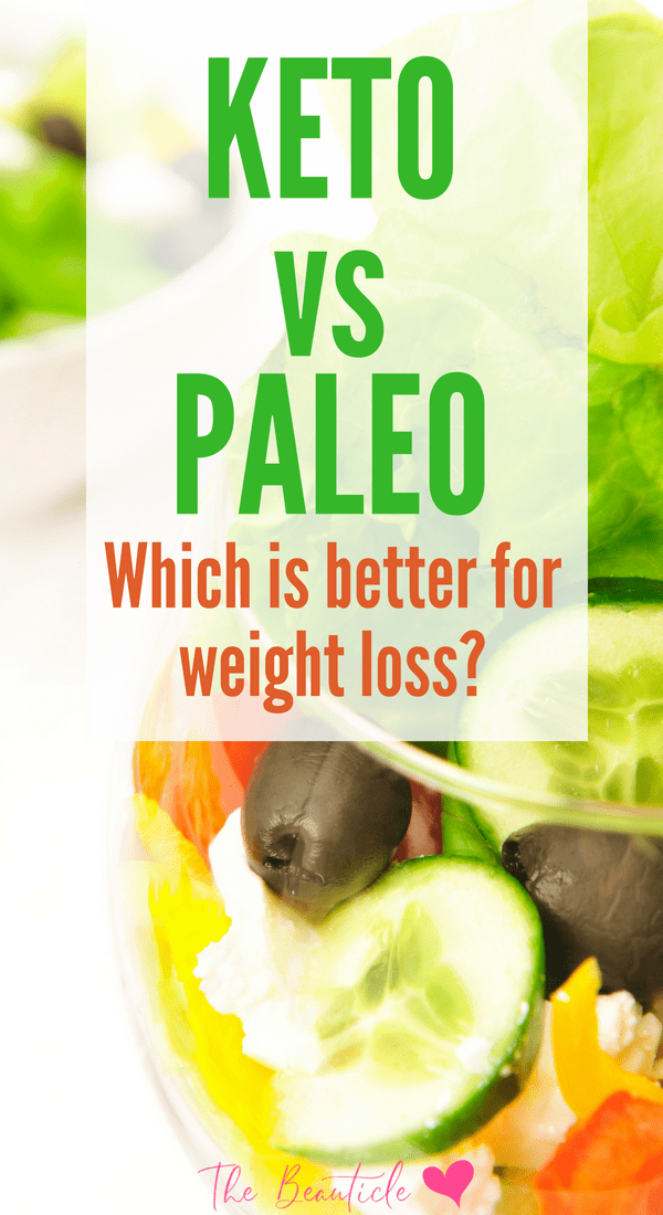 Keto vs Paleo: Do you know the difference between these two diets? One has been touted as better for weight loss, find out which one! #ketodiet #ketogenicdiet #paleodiet