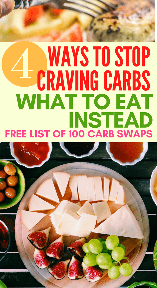 4 ways to stop carb cravings and what to eat instead. Get a free list of carb replacement to lose weight on the keto diet