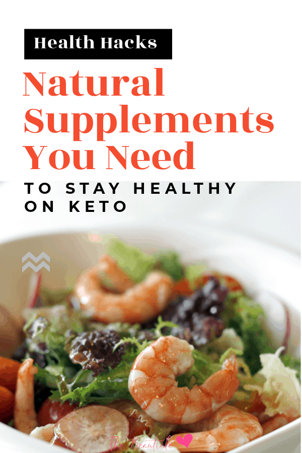 best keto supplements pin image