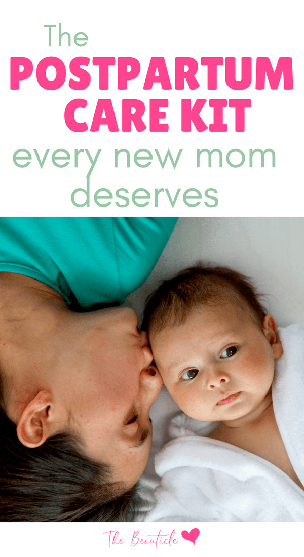 Postpartum recovery is something no one talks about but is so important. Build a postpartum care kit with these essential items that help with healing after birth.