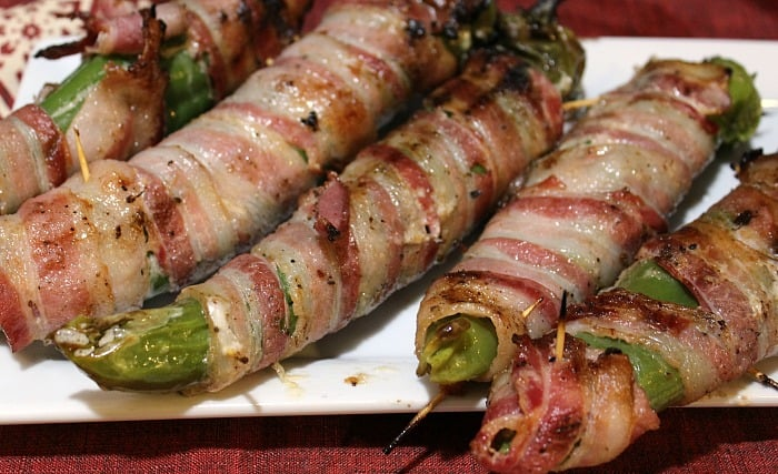 Bacon Wrapped Stuffed Anaheim Peppers