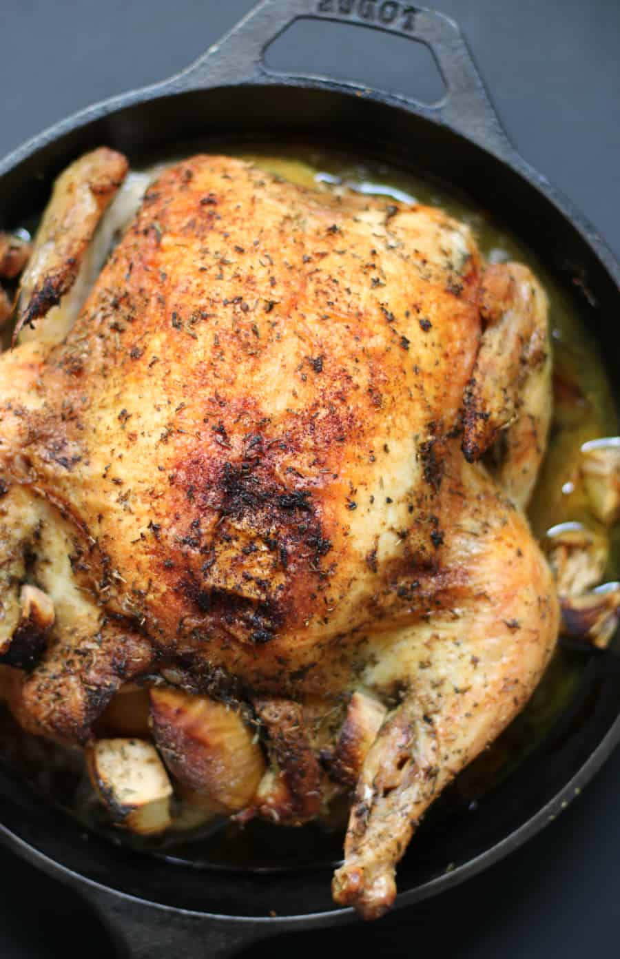 Easy Cast Iron Whole Roasted Chicken for Keto Thanksgiving #keto #ketorecipe #thanksgiving