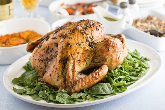 Easy Paleo Keto Thanksgiving Turkey with Fresh Herb Rub