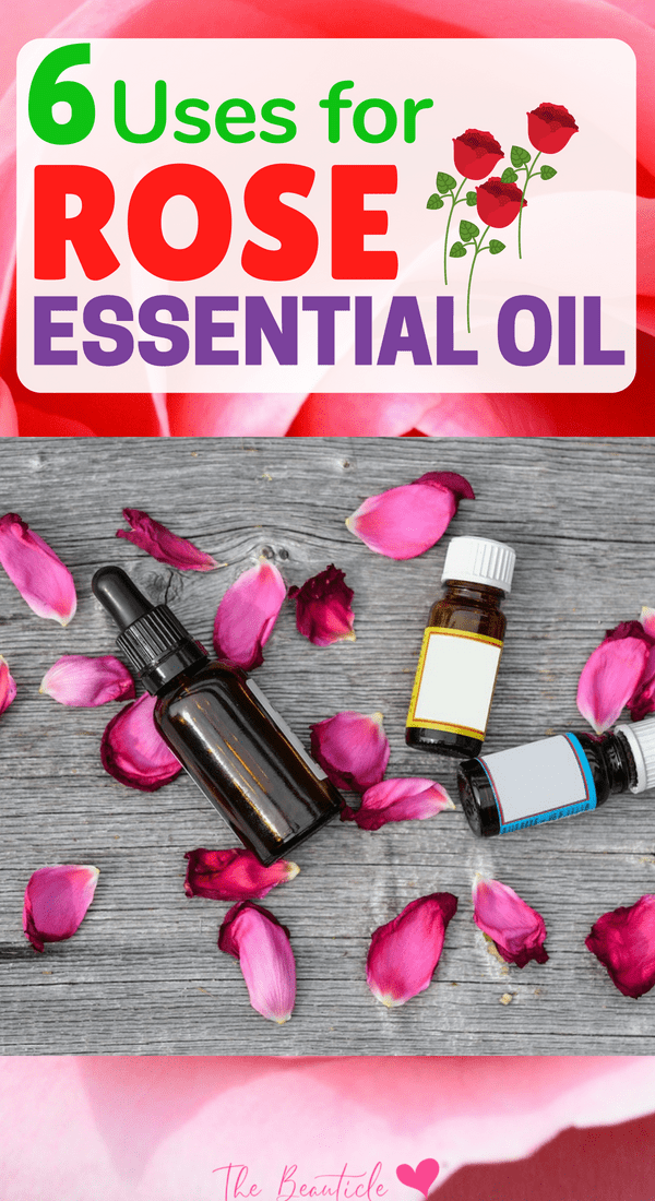 These rose essential oil uses show just how diverse this beautiful smelling oil is. Rose oil benefits your skin, immune system, libido and much more. Check out all the rose essential oil benefits listed here and find out how to use this healing oil