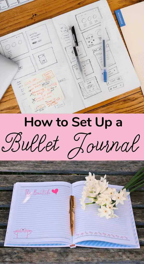 The ultimate bullet journal guide. Learn how to set up a bullet journal from scratch. This bullet journal setup guide will show you bullet journal ideas for monthly spreads, weekly spreads, and daily spreads and all the bullet journal sections you need. Start bullet journaling with this simple bullet journal system today #bulletjournal #bujo