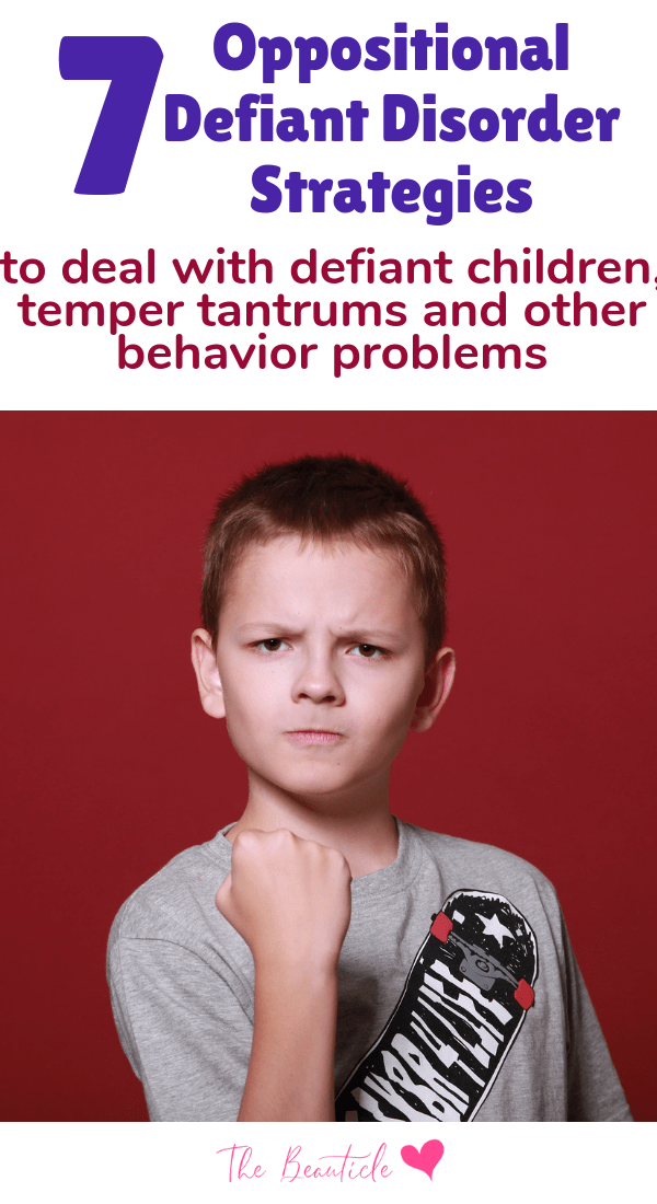 Oppositional defiant disorder strategies