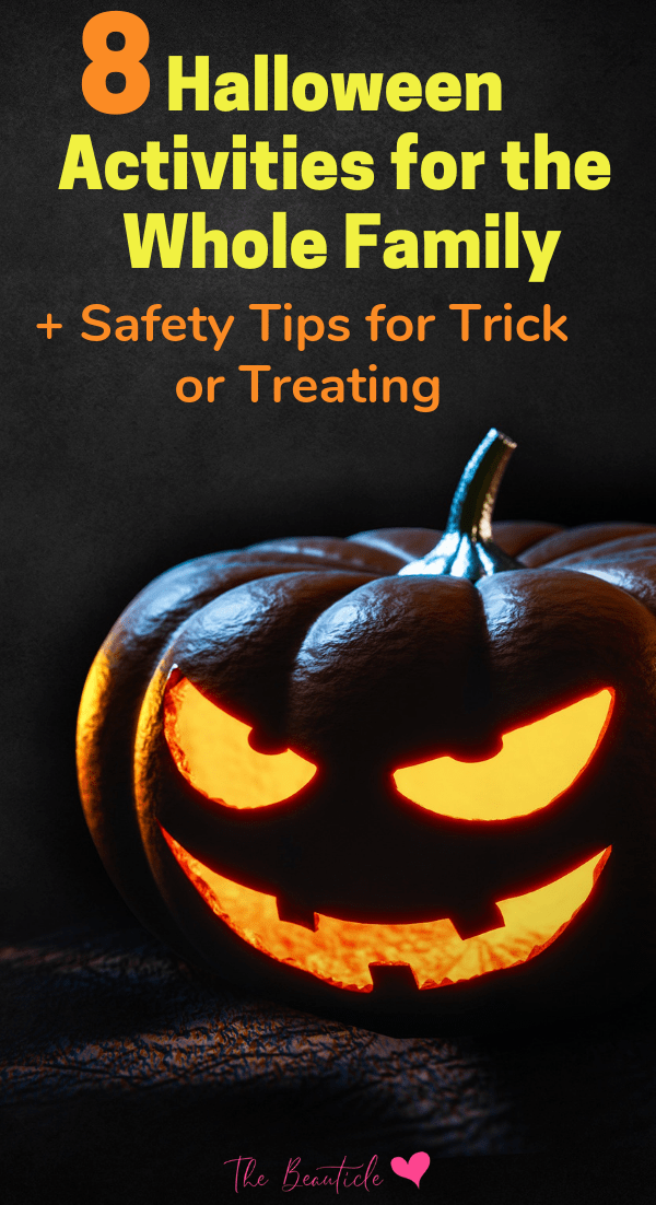 8 Halloween activities for kids: Fun Halloween alternatives if trick or treating is not an options. Plus safety tips to trick or treat if you do! Try these fun Halloween games with your kids #halloween #partygames #kidactivities