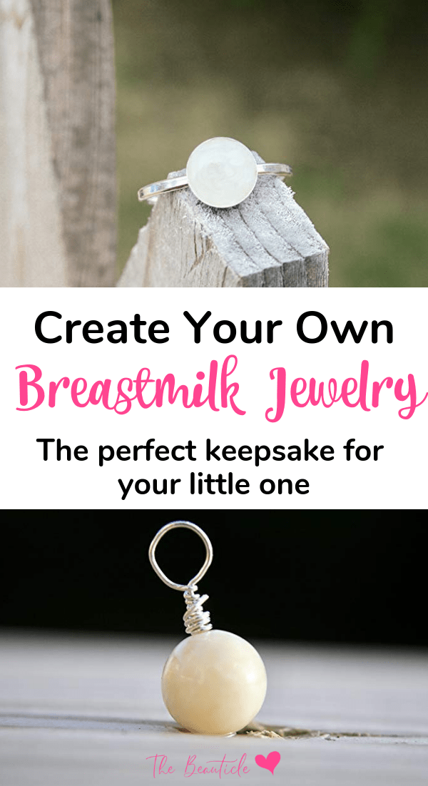 DIY breastmilk jewelry kit makes gorgeous breast milk jewelry. Create your own breastfeeding necklace or breastmilk ring. Learn how to make breastmilk jewelry. #breastmilk #breastfeeding #breastmilkjewelry