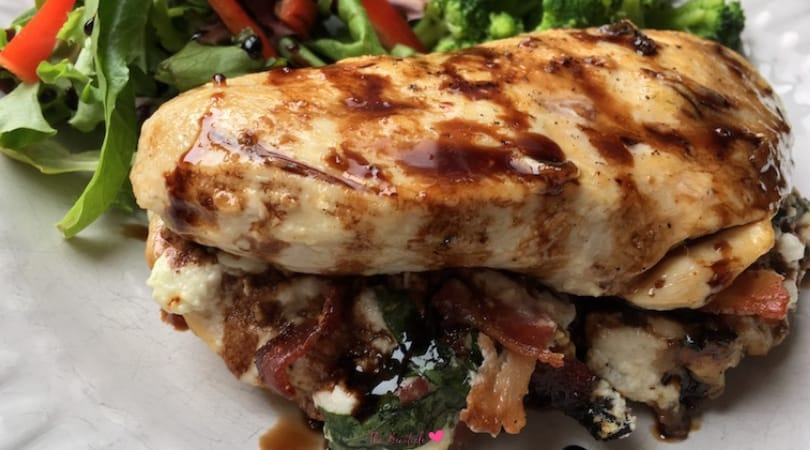 Bacon and Goat Cheese Stuffed Keto Chicken Breast Recipe