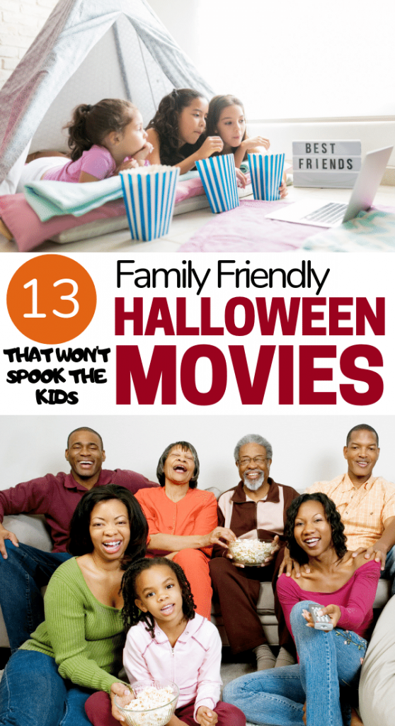 family friendly halloween movies pin image
