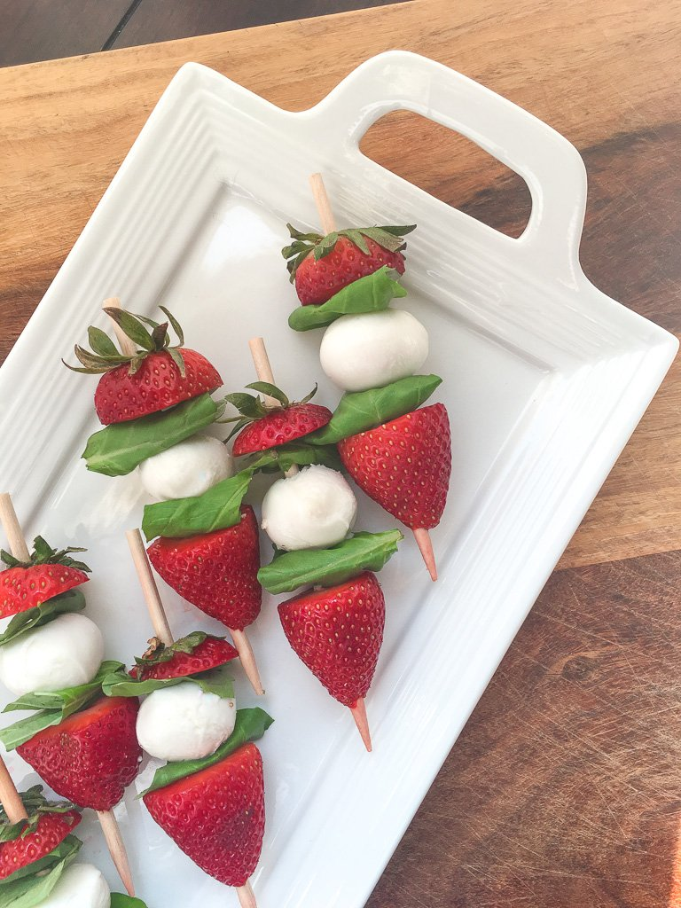 Strawberry Caprese Skewers